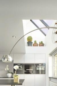 L Slijpe Keuken spanplafond in keuken