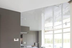 spanplafond keuken en zitruimte